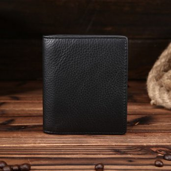 Short clip leather wallet leather wallet fashion simple wild male 73ff35 [Milan] Gifts