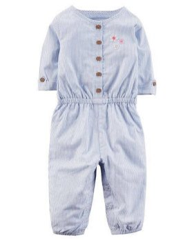 CARTER'S JUMPSUIT (BLUE  STRIPE)