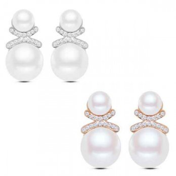RAT1036W - Aksesoris Anting Pearl Crystal
