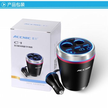 Original ACCNIC C1 USB Bluetooth Car Charger Cigarette Lighter One with Bluetooth Car Handsfree Mp3