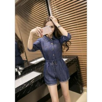 Denim Jumpsuit ( Dark Blue, Light Blue ) - 777491