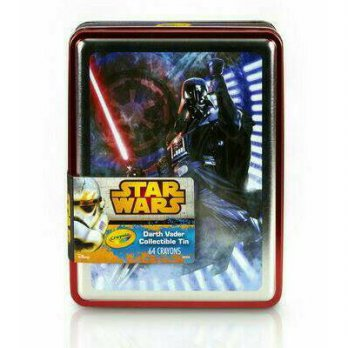 Crayon Anak CRAYOLA Star Wars Darth Vader Tin Case with 64 Crayons