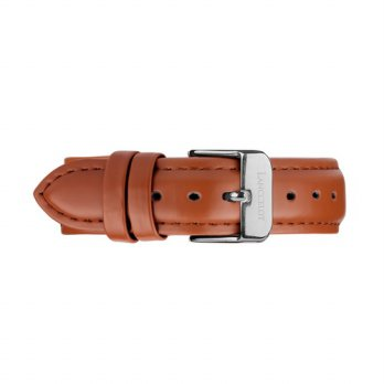 Lanccelot Strap 18mm Leather Grain Brown B Silver
