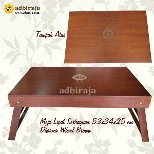 Meja Lipat Serbaguna Dharma Wheel Brown