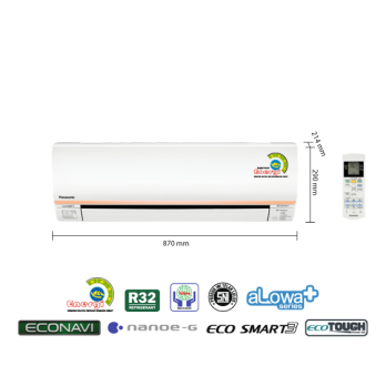 PROMO AC PANASONIC 1 PK LOW WATT ECONAVI CS-XN9SKJ (FREON R32, 660 W)