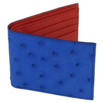 [macyskorea] Tom Barrington Ostrich Wallet, Bi-Fold w/ ID Holder, 9 Credit Card Slots Blue/12354065