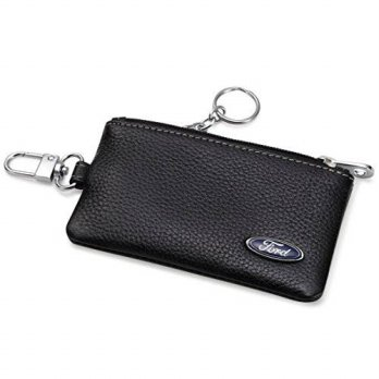 [macyskorea] Leather Wallets Ford Car Key Holder Remote Cover Fob with 1 Metal Keychain - /12354063
