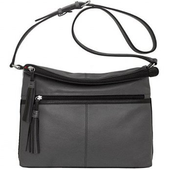 [macyskorea] ILI ili Leather Large Crossbody Handbag (Gray/ Black)/12354034