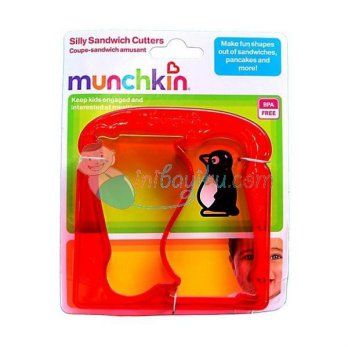 Munchkin Silly Sandwich Cutters Penguin Color Red Age 1YR+