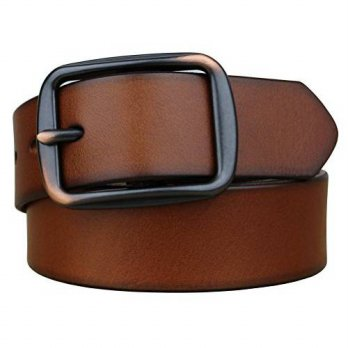 [macyskorea] Bullko Mens Unique Pin Buckle Genuine Leather Belt Brown 30-32inch/12352900
