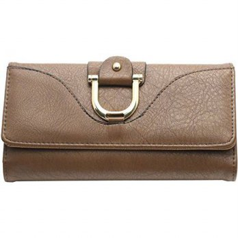 [macyskorea] Femina Trifold Womens Wallet with Buckle with a NutriChart (Brown)/12353070