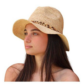 [macyskorea] Palms & Sand Belize Womens Beaded Raffia Sun Hat (Natural)/12352878
