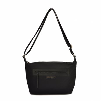 Authentic Longchamp Le Pliage Sling Hobo Neo - Black