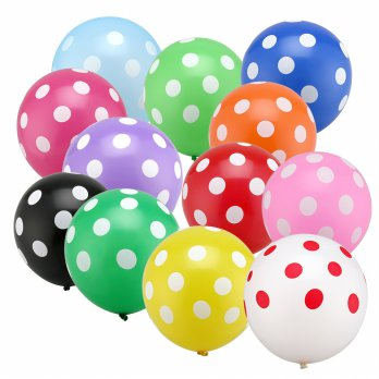 Balon Latex Metalik Polkadot 12inch / 30cm