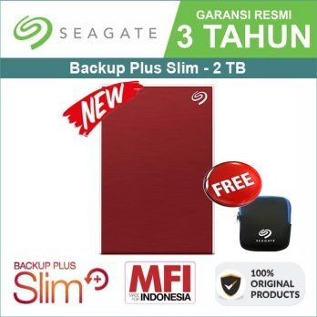 BUY 1 GET 1 Seagate Backup Plus Slim 2TB - HDD EXTERNAL FREE POUCH