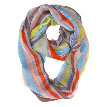 [macyskorea] Peach Couture Trendy Striped Print Light and Soft Fashion Infinity Loop Scarf/12352722