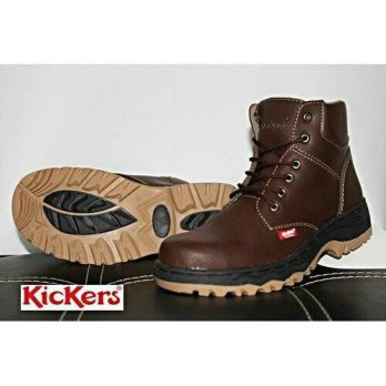 Promo Termurah kickers safety boots elf darkbrown INDG:006358