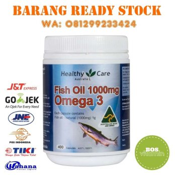 READY STOCK - Healthy Care Fish Oil 1000mg 400 capsules