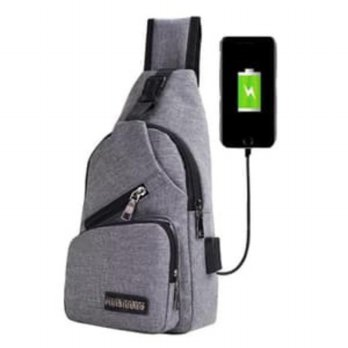 Tas Selempang B295 - Smart Crossbody USB port Charger SJ0038