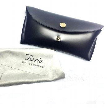 Tiaria Synth Leather Sunglasses Box Elegant TSUP311 / Tempat Kacamata