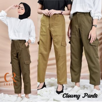 Clowny Cargo Baggy Pants American Drill