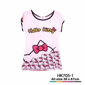 Baju Hello Kitty 1392 Pink tua HK705-1