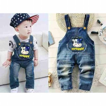 Overall Jeans Short Cute/Overall Mhappy Jeans Impor