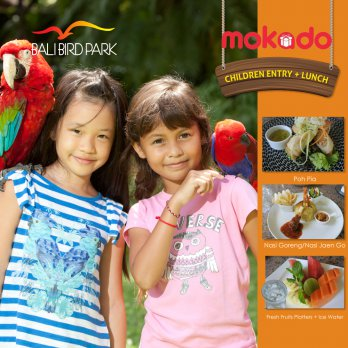 [BALI BIRD PARK] Children Entry + Lunch