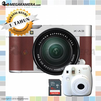 Fujifilm / Fuji X-A3 / XA3 Kit 16-50mm Kamera Mirrorless - Brown