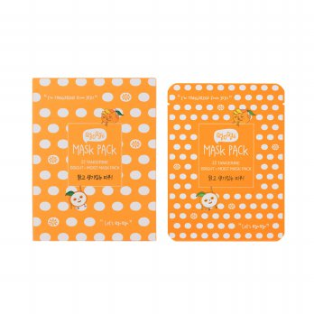 [10 PCS] QYO QYO TANGERINE BRIGHT AND MOIST MASK PACK