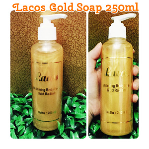 Mini Lacos GOLD Soap 250ml (ukuran kecil) / sabun gold