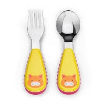 SkipHop Zootensils Fork & Spoon Cat