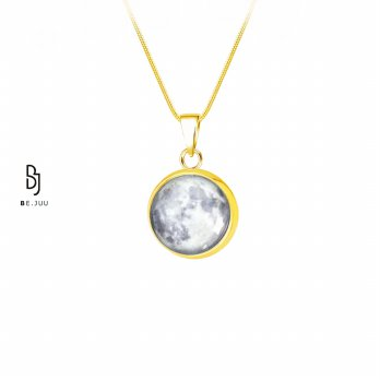 Kalung Full Moon Glow in the Dark Korean Jewelry | Material Stainless Steel / Gold Plated