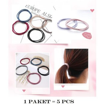 IK07 Ikat Rambut Korea Solid Color 5 pcs