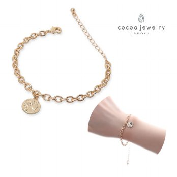 Cocoa Jewelry Gelang Wanita Korea Bella Gold Color / Korean Bracelet | Material Steel & Zinc