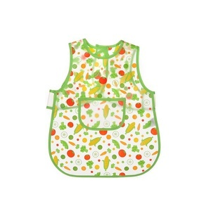 Luvable Friends Easy Clean Baby Apron Bib - Green
