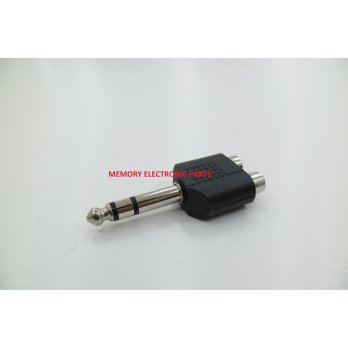 Headset Sambungan 2 Cover RCA to 1 Jack Akai St