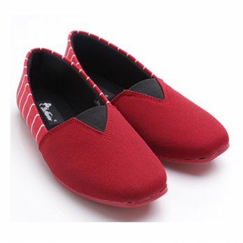 2Colors Dr.Kevin Ladies Flat Slip-On Shoes 43172 Red,Blue