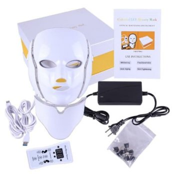 pdt light 7 colour warna led mask masker led wajah leher