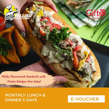 Yellow Fit Kitchen Monthly Lunch & Dinner 5 Days