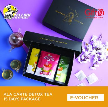 Yellow Fit Kitchen Ala Carte Detox Tea 15 Days Package