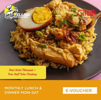 Yellow Fit Kitchen Monthly Lunch & Dinner Mon-Sat