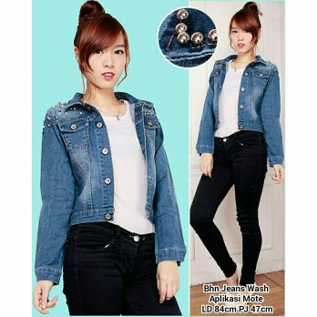 Atasan jaket jeans wanita jacket out wear Tarina