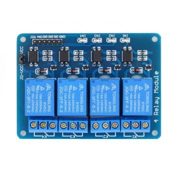 MODUL RELAY 4 CHANNEL 5V OPTOCOUPLER ARDUINO