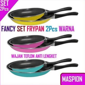 Fancy Teflon Maspion Set Isi 2 18cm Dan 23cm / Wajan Fry Pan Anti Lengket Best Seller