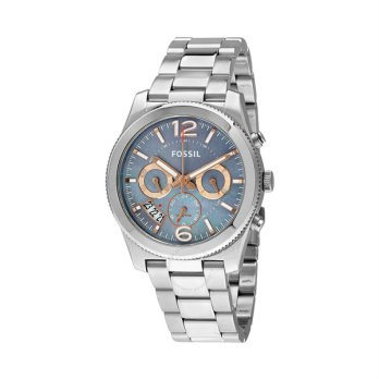 FOSSIL Perfect Boyfriend Gray Mother of Pearl Dial Jam Tangan Wanita - Silver [ES3880]