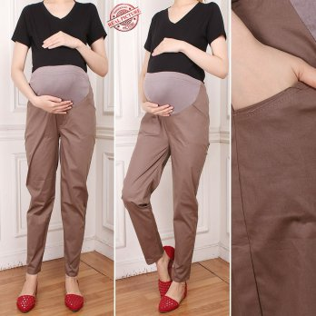 Glow Collection Celana hamil panjang wanita jumbo long pant Reina