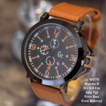Jam Tangan Pria / jam tangan Murah GC Unichorn Light Brown Color + Box