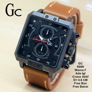 Jam Tangan Pria / jam tangan Murah GCCrono Aktif Brown In Black color