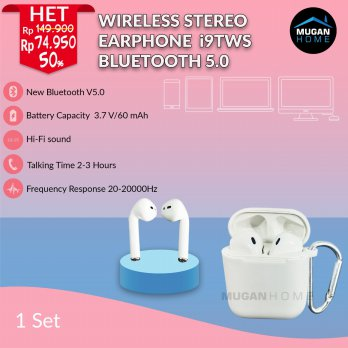 Earphone I9S-TWS Bluetooth 5.0 Wireless Mini For IOS & Android